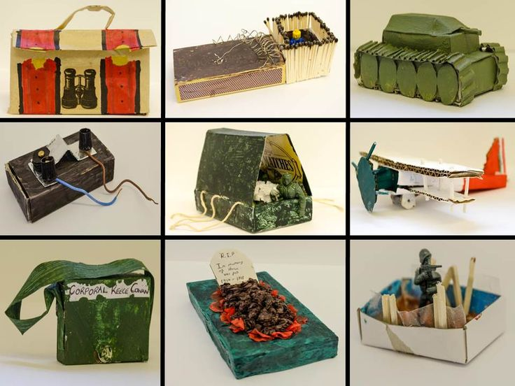 Y8 WW1 Matchbox Sculptures