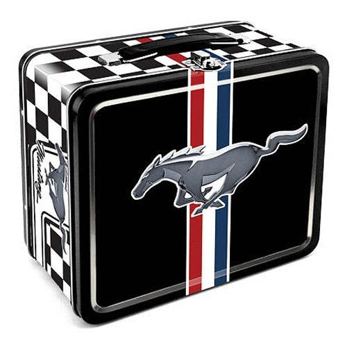 Ford Mustang Logo Tin Lunch Box.  I'd like to use this to take my lunch to work.