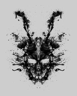jake gyllenhaal bunny rabbit donnie darko frank psychological donnie psycho darko — Designspiration