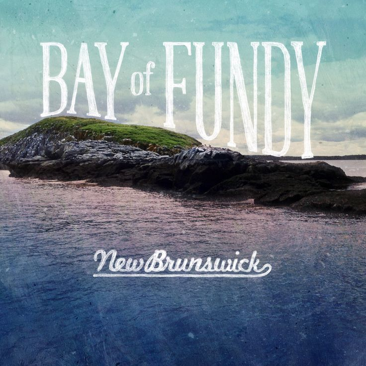Bay of Fundy hand lettering.   #BayOfFundy #NewBrunswick #lettering #handlettering #type  #design #graphicdesign