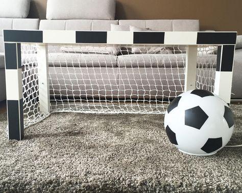 Unique Fussballzimmer Tor und Lampe als IKEA HACK limmaland