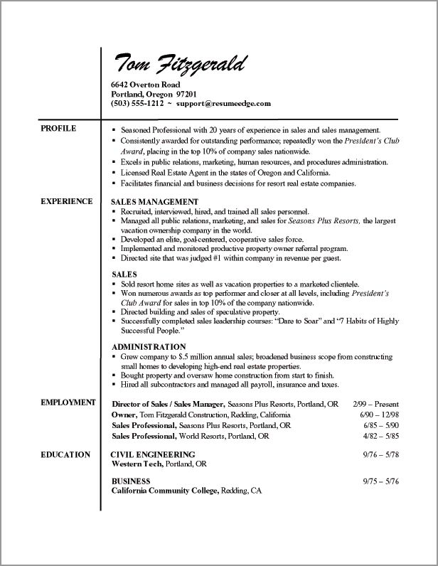 professional resume example learn from samples free download template format sample