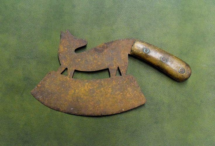 Tasak rzeźnicki w kształcie lisa.  I połowa XIX w.