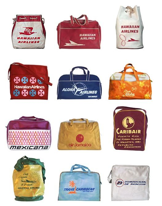Airline Flight Bags  Repinned by www.loisjoyhofmann who survived two world circumnavigations: one by air and land and the other by sea.