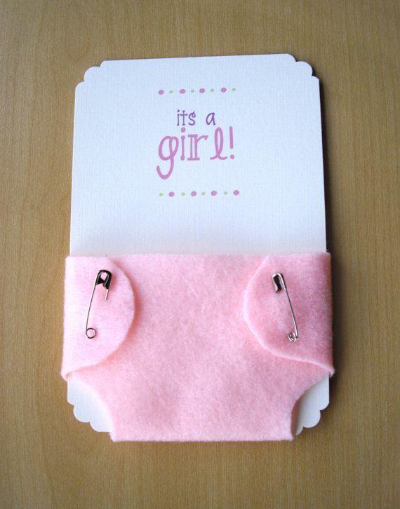 Invitación para Baby Shower de niña rosa