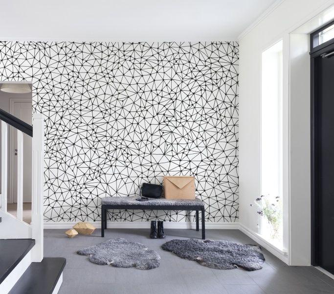 Twinkle twinkle black wallpaper muralswall muralswallpaper feature wallswall