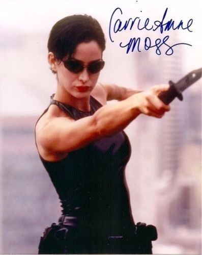 Carrie-Anne Moss Matrix Red Planet Daredevil Autographed Signed 8x10 Photo w/COA  #scifi #fantasy #horror #film #TV