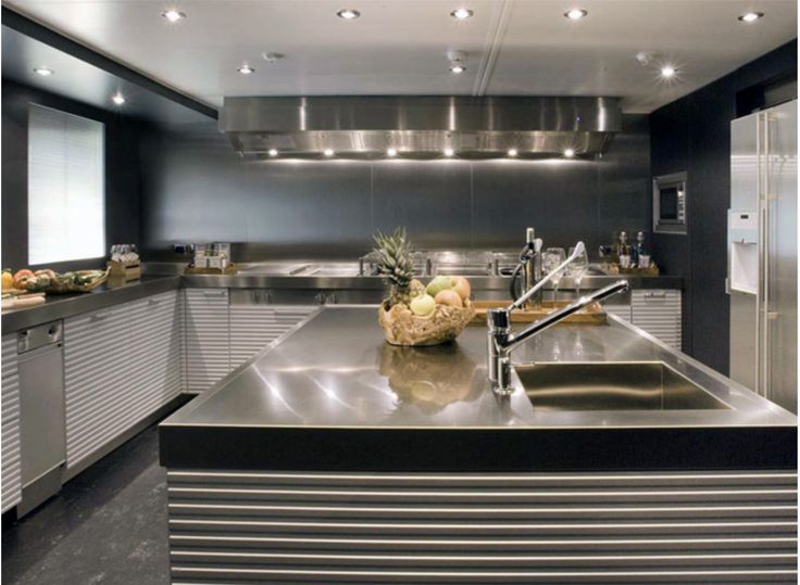 Let Your Mind Wander On The Lines And Italian Modern Design Of Ernestomeda  Yach Division Kitchens.
