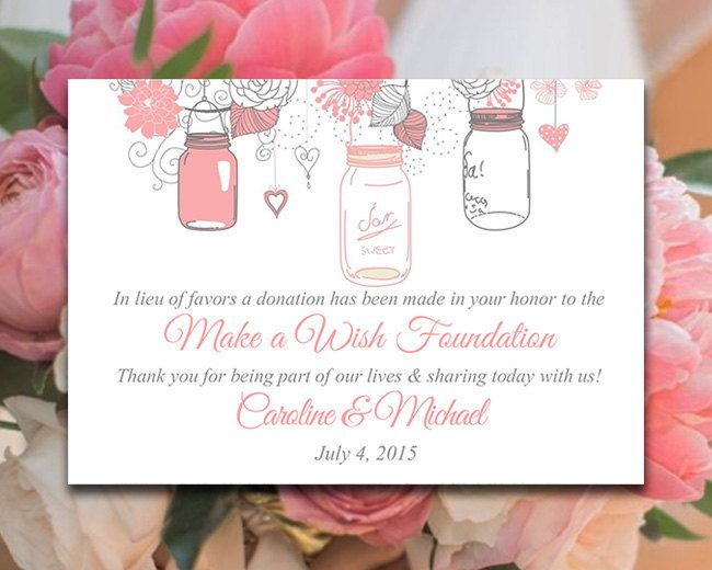 The 25+ best Wedding favours charity donations ideas on Pinterest - donations template