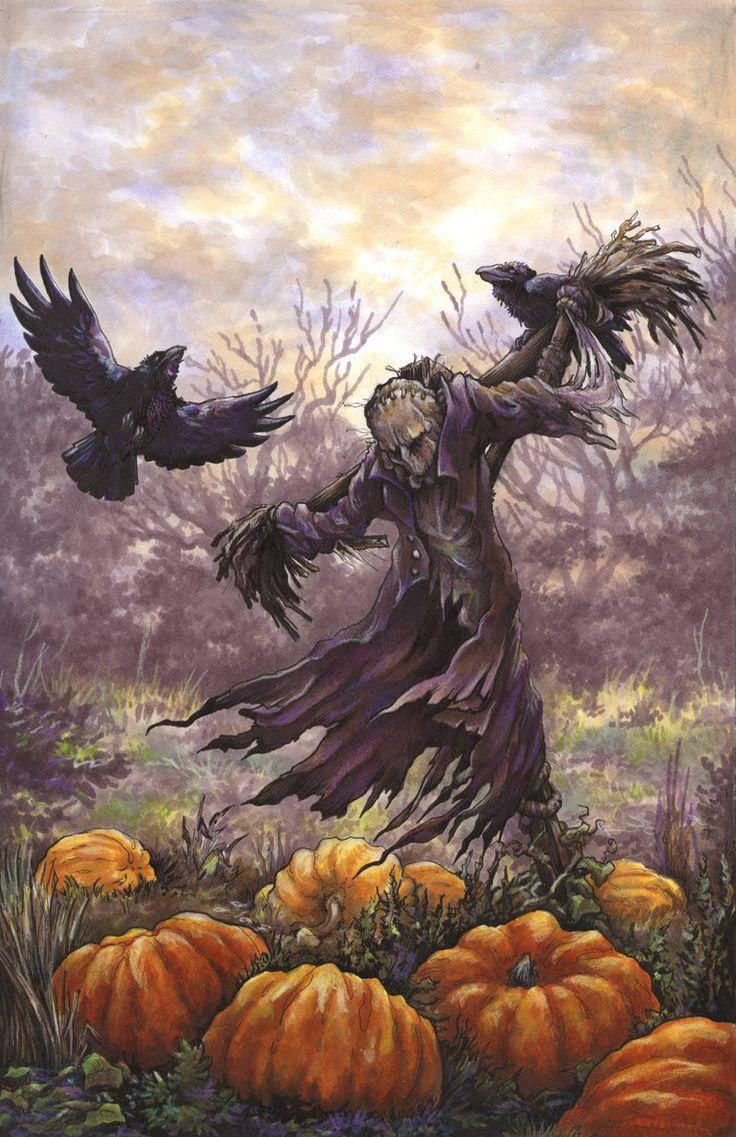 Halloween door decorations mummy downloader - Dark Scarecrow By Jessigraden On Deviantart Halloween