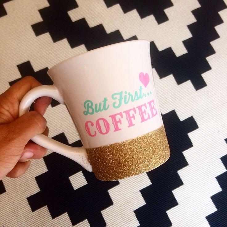 Personalized Coffee cup // Glitter Dipped by TwinkleTwinkleLilJar