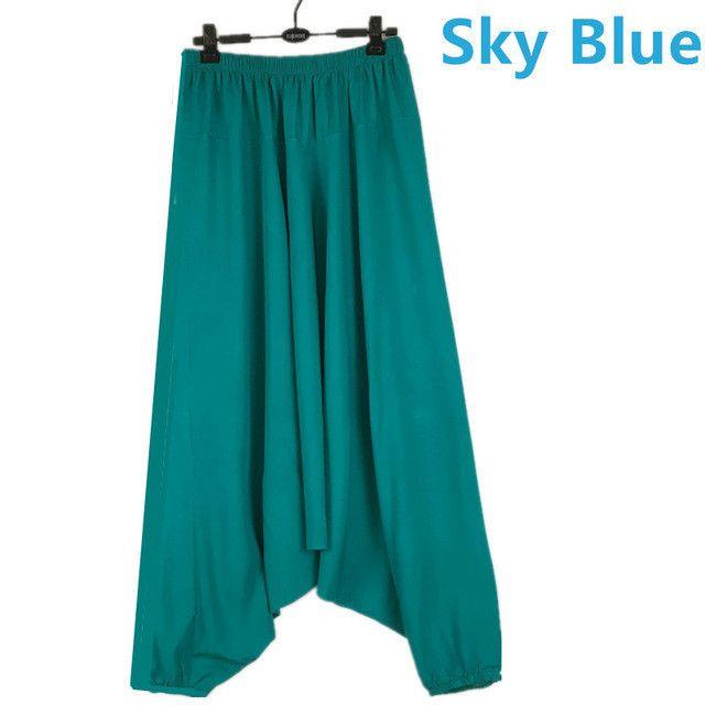 Men's Cross-pants crotch pants,wide leg pants dancing Harem pants pantskirt bloomers Harem trousers,16 COLORS plus size M-5XL
