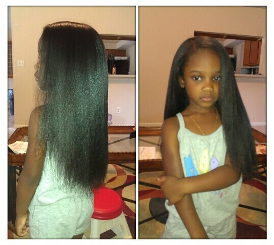 Pressed Natural Hair 4yrs old