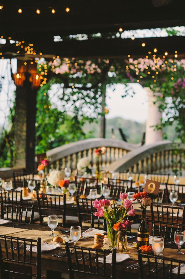 Photo: Rebekah J. Murray - outdoor wedding reception idea