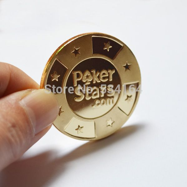 Poker Cards Guard Protector,Metal Token Coin with Plastic Cover Metal Chip Poker Stars Gold Color #men, #hats, #watches, #belts, #fashion