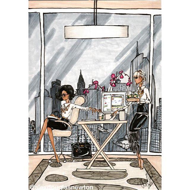 The CEO gets her all important @starbucks order in the Manhattan office #nyc #nyoffice #starbucks #starbucksnyc #womeninpower #womeninbusiness #womandrinkingcoffee #hermesbirkin #hermes #blackbirkin #blackskirt #whiteshirt #fringeskirt #ceofashion #officechic #officeattire #corporatefashion #fuchsiaorchid #officewithaview #nycview #nycskyline