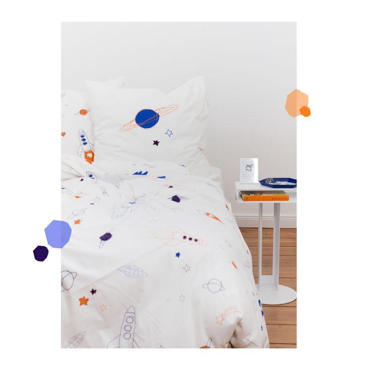 Kinderzimmer Kinderbettwasche Rakete 135x200 80x80 Cm Baby