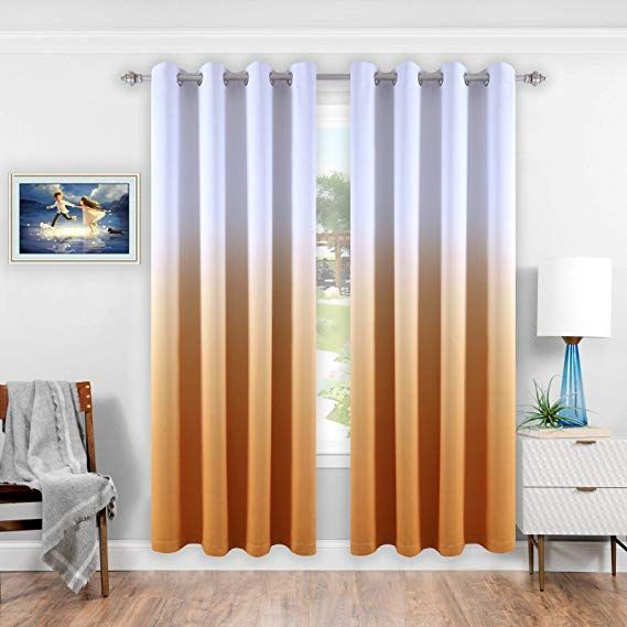 Amazon Com Donren Ombre Blackout Curtains Thermal Insulated