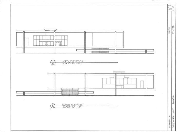 Farnsworth House Illinois Floor Plan