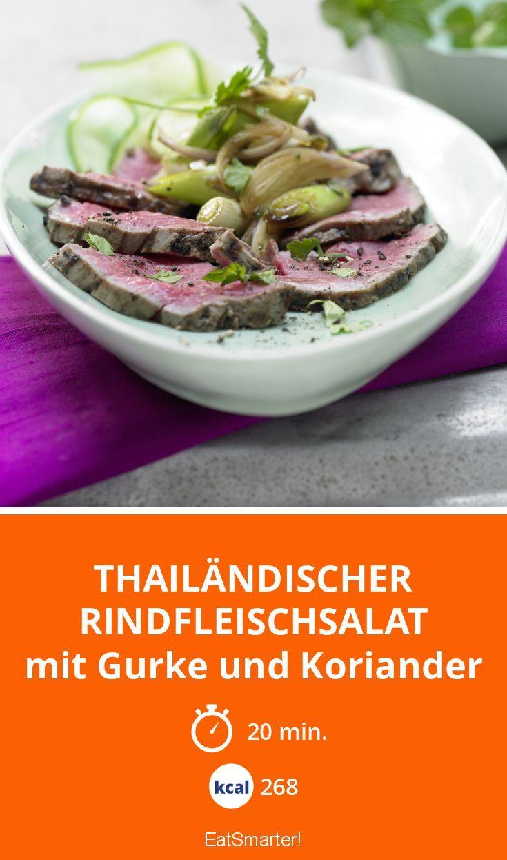 Thailändischer Rindfleischsalat - mit Gurke und Koriander - smarter - Kalorien: 268 Kcal - Zeit: 20 Min. | eatsmarter.de