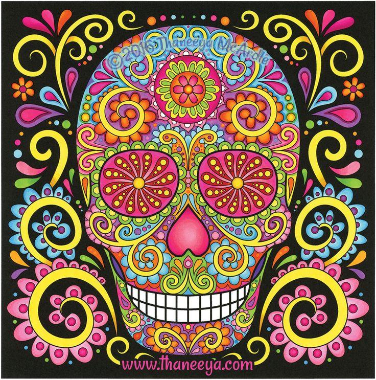 sugar skull coloring pages thaneeya - photo#16