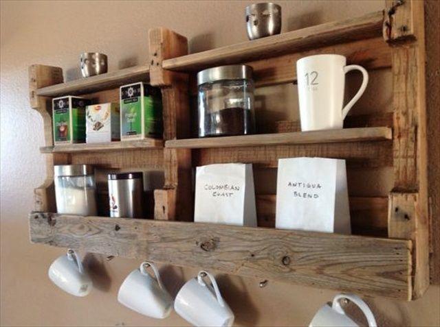 Creative and Traditional Pallet ideas. Pallet Kitchen Storage Shelves. - Wooden Pallet Furniture