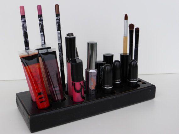 Antique Black  makeup organizer  storage  by CraftersCalendar