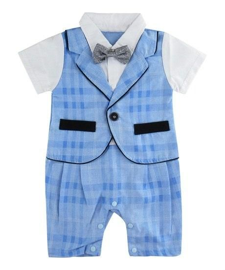 eac053591cf Baby Boy Gentleman Romper with Bow Tie Infant Party Playsuit Formal Suit  for Wedding Clothes Set Pants and Shirts Tuxedo Outfit