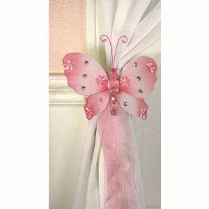 Emily Butterfly Curtain Tie Backs