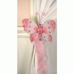 Emily Butterfly Curtain Tie Backs