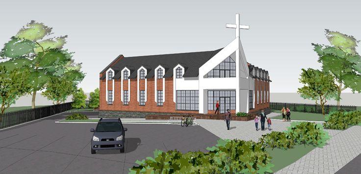Церковь в Ружнице - визуализация