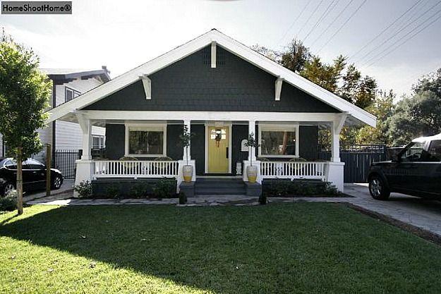 Craftsman painted white South Pasadena porch