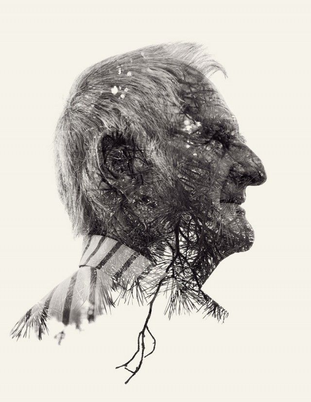 We Are Nature: New Multiple Exposure Portraits by Christoffer Relander: Double Exposure, Natural Photography, Multiplication Exposure, Multiple Exposure, Exposure Portraits, Photography Portraits, Graphics Design, Design Blog, Christoff Reland