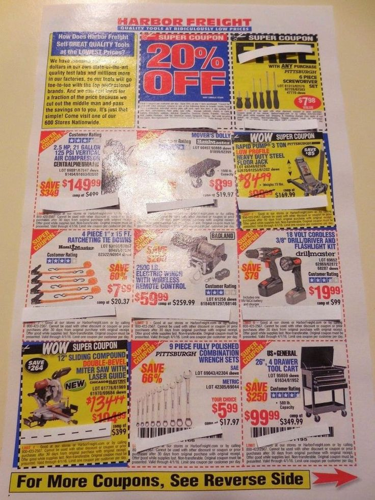 Harbor freight tools coupon at home depot