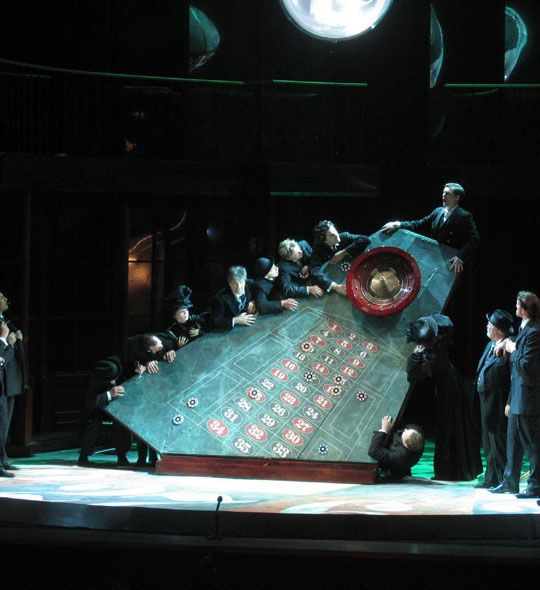 The Gambler at Opera Zuid- design by Dick Bird -- Awesome perspective. Can use this idea for a multitude of sets.