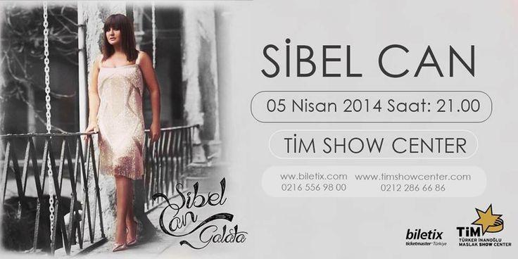 Milyonların sevgilisi, Türk sanat müziğinin yıldızı Sibel Can, 5 Nisan'da TİM Show Center'da...Biletler Biletix ve Tim gişelerinde... http://www.biletix.com/etkinlik/RKMA7/DIGER/tr