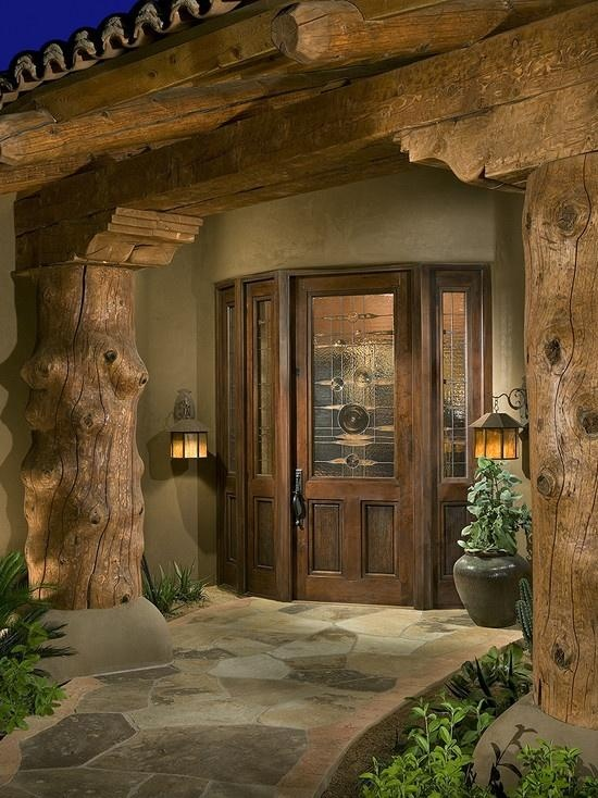 Log Cabin Front Doors Front Door Log Cabin Homes Pinterest Beautiful