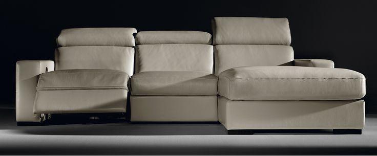 Sof de piel modelo munich con chaiselonge y sistema relax for Sofa munchen design