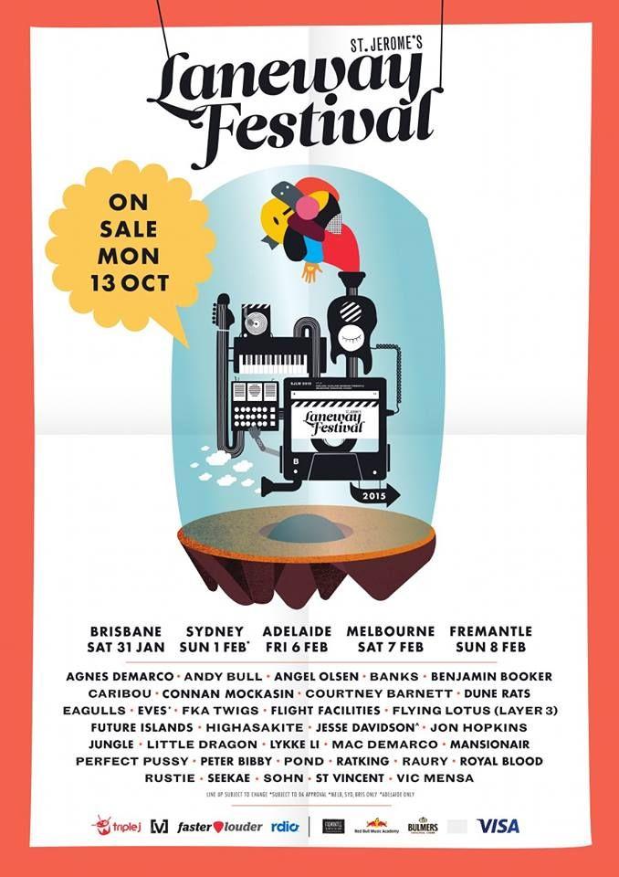 laneways festival 2015 poster - Google Search