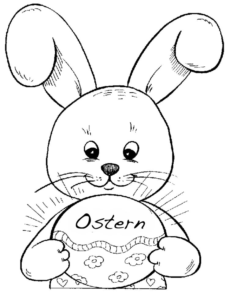 30 best Ostern images on Pinterest Free coloring pages, For kids - best of bunny rabbit coloring pages print
