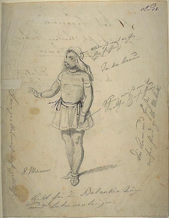 Kostümentwurf für eine männliche Figur in 'Begum Somru' von Friedrich Halm | Franz Gaul | Bildindex der Kunst & Architektur