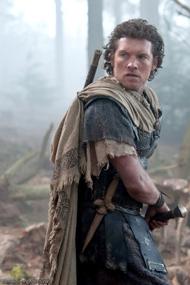 Remember the wear & tear. (I like the little wooden dagger, too.): Sam Worthington - Wrath of the Titans