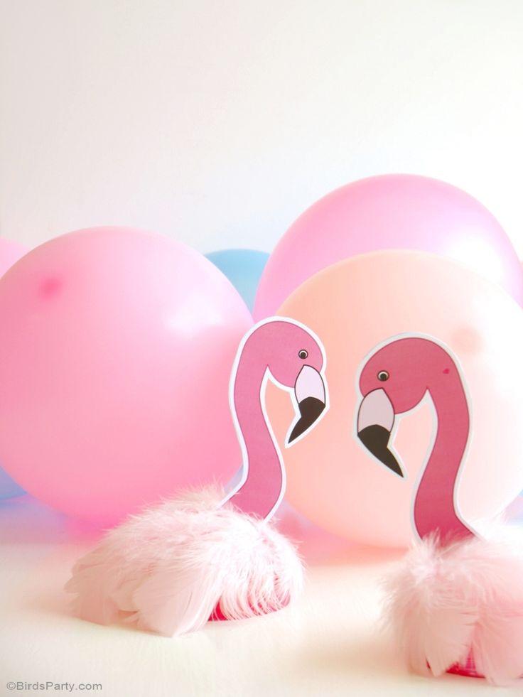 DIY decoratie Partij van de verjaardag Roze Flamingo - BirdsParty.fr