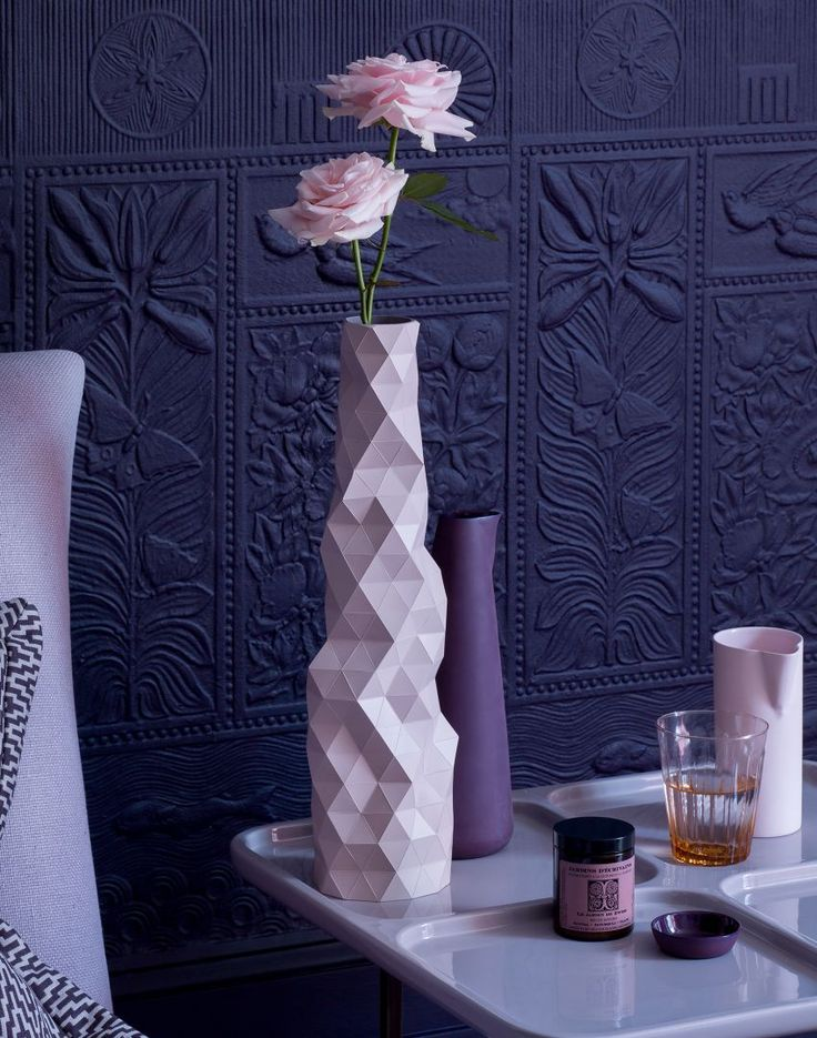 Deep Aubergine and Pink Bedside Table Display