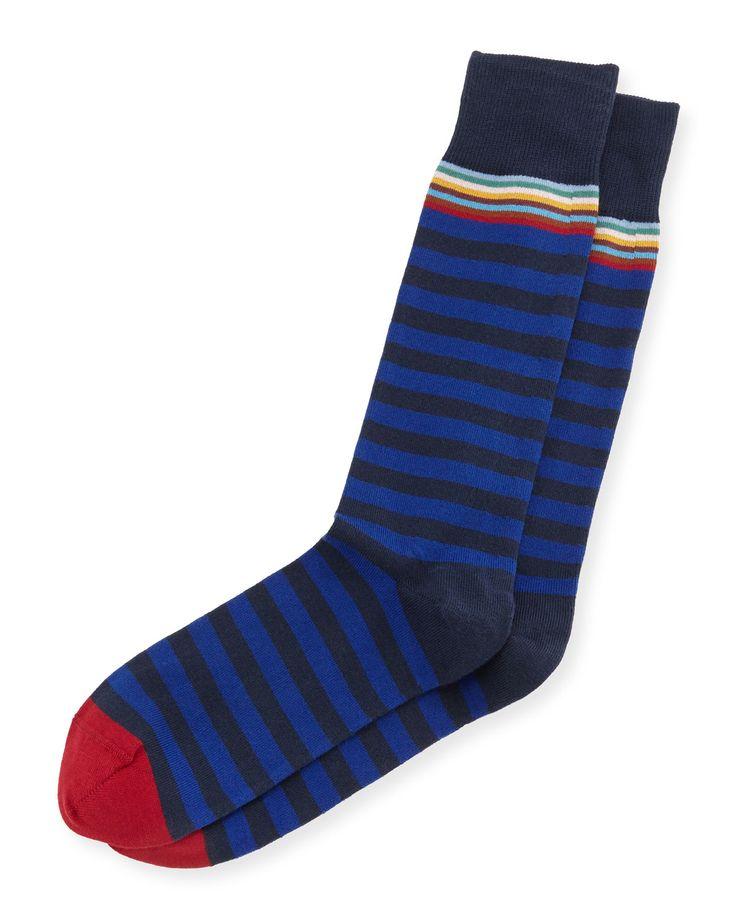 Socks for Men, Dark Night Blue, Cotton, 2017, Universal Size Paul Smith