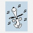 SNOOPY DANCING MUSICAL NOTES CROCHET AFGHAN PATTERN GRAPH