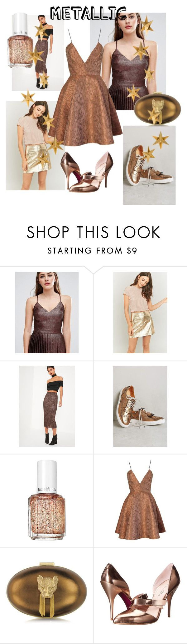 """Metallic"" by madeliefbytheway ❤ liked on Polyvore featuring ASOS, Light Before Dark, Missguided, Anthropologie, Essie, Joana Almagro, Thalé Blanc, Oscar de la Renta and Livingly"