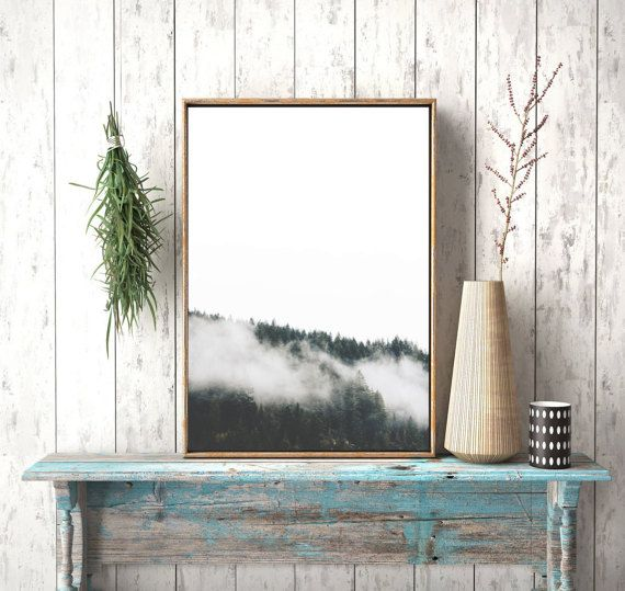 Instant downloadForest Print Forest Fog by photoplasticon on Etsy