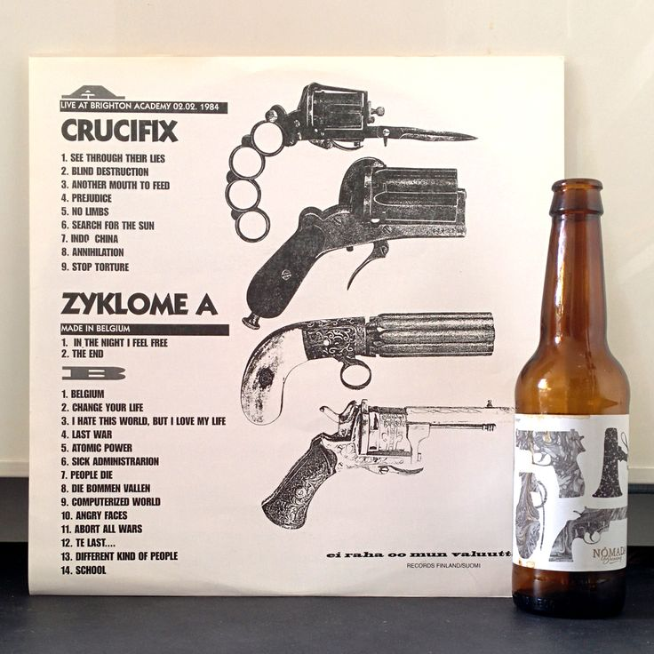 Beer Battle Royal Imperial Miso Porter Nómada / To Øl (ES / DK)Record Crucifix - Live At Brighton Academy 1984 / Zyklome A - Made In Belgium Unofficial Release (1994)