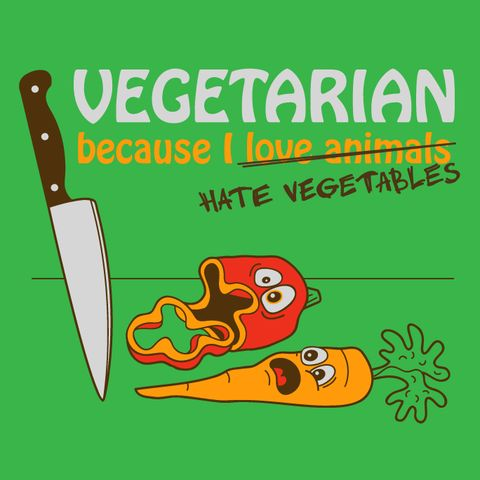 I'm absolutely buying this t-shirt if I ever become a vegematerian.